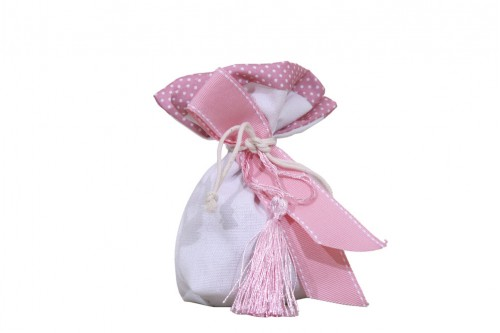 Μπομπονιέρα πουγκί ροζ