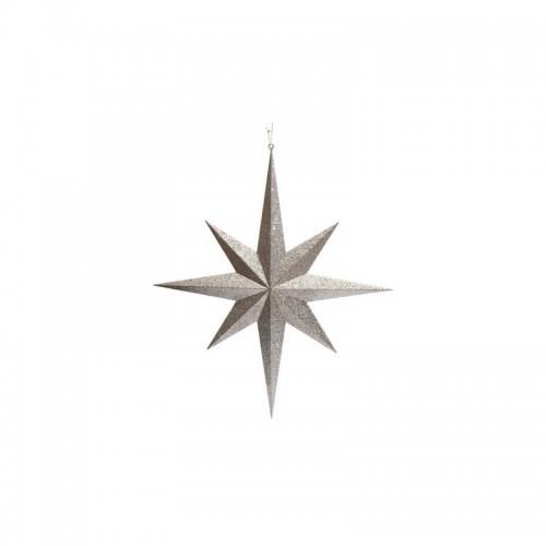 Αστέρι διακοσμητικό ασημί 60εκ