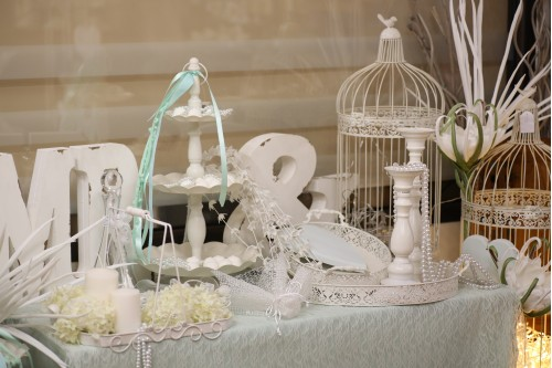Aqua wedding table