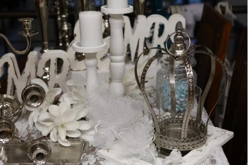 Διακόσμηση γάμου με ίνοξ διακοσμητικά