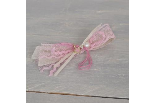 Μαρτυρικό με δανδέλα ροζ και περλίτσα