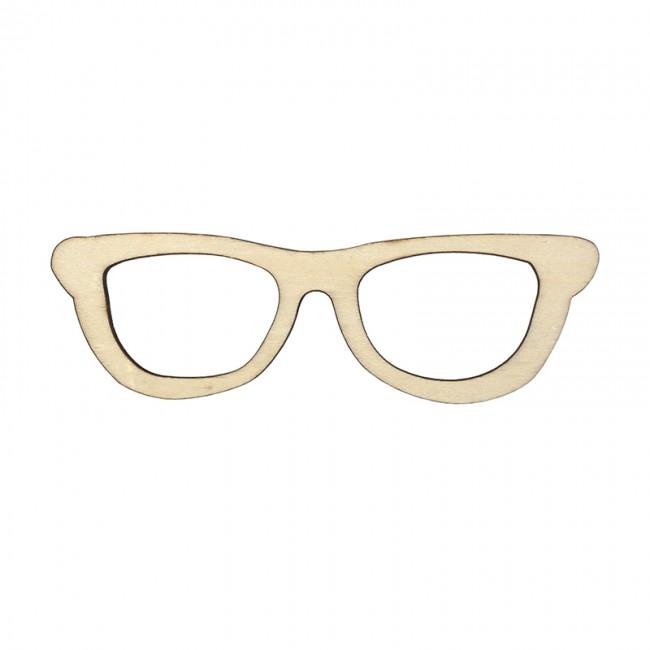 4d50cadff4 Ξύλινα διακοσμητικά γυαλιά 15εκ χ 0