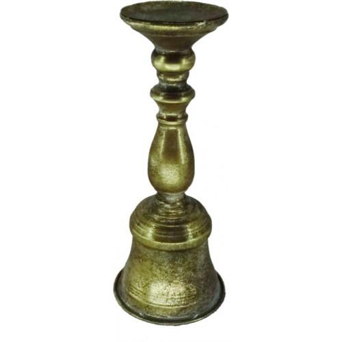 Κηροπήγειο μεταλλικό χρυσό σκούρο 14χ39,5εκ