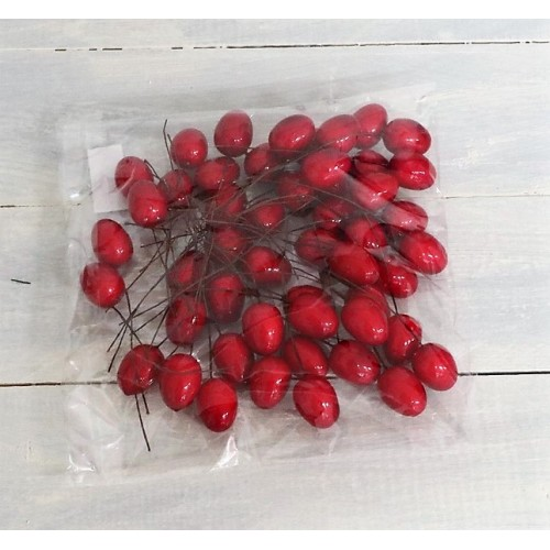 Αυγά κόκκινα διακοσμητικά σετ/50 2εκ